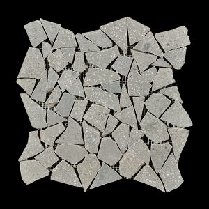 Décor Gemstone Ashen Decorative Terrazzo Collection Porcelain Tile Matt 30 x 30cm, 10mm thickness