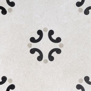 Encaustic BW 3 Decorative Cement Collection Porcelain Tile Matt 20 x 20cm, 10mm thickness