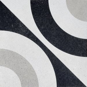 Encaustic BW 5 Decorative Cement Collection Porcelain Tile Matt 20 x 20cm, 10mm thickness