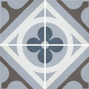 Encaustic Nostalgia 1 Decorative Cement Collection Porcelain Tile Matt 20 x 20cm, 10mm thickness