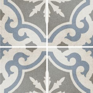Encaustic Nostalgia 2 Decorative Cement Collection Porcelain Tile Matt 20 x 20cm, 10mm thickness