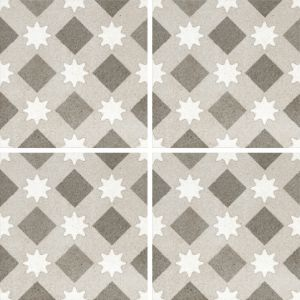 Encaustic Nostalgia 5 Decorative Cement Collection Porcelain Tile Matt 20 x 20cm, 10mm thickness